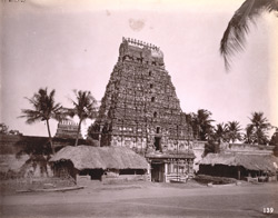 View of east gopura of the Vaidyanatha Temple, Tirumalavadi